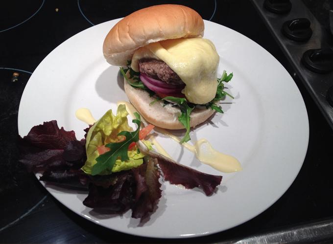 steamed burger