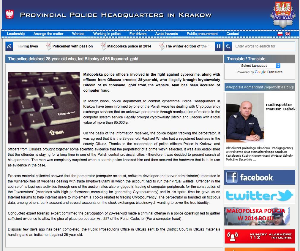 bitmarket police thief arrest