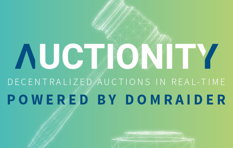 DomRaider Group Unveils the First Version of their Blockchain Based Auction Solution under the New Brand Name Auctionity