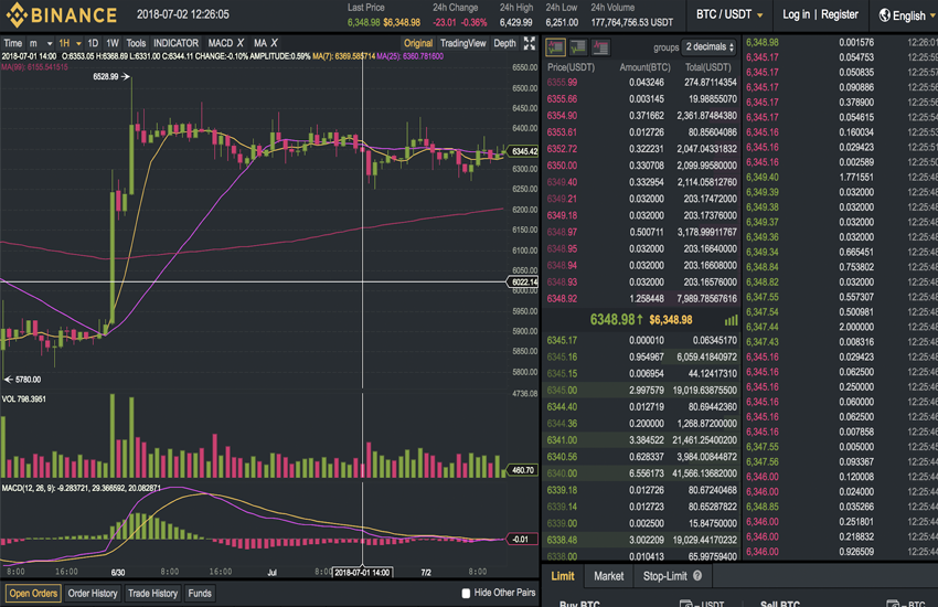 Binance advanced trading view