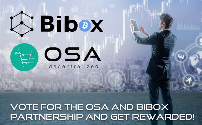 OSA Token Goes on Bibox!