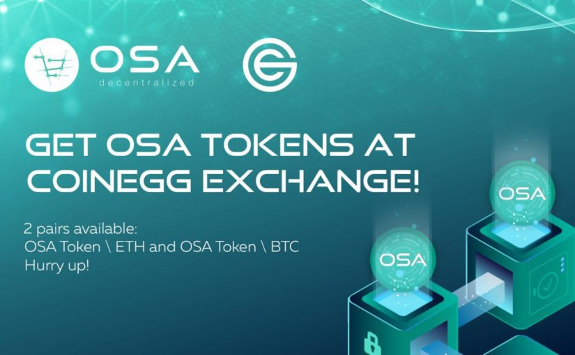 OSA TOKEN SECURES LISTING ON COINEGG EXCHANGE